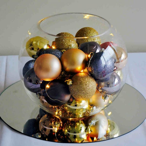 Fish Bowl Vase Hire Melbourne Christmas Theme