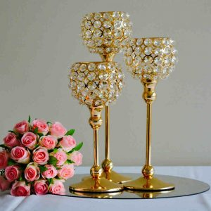 Gold Goblet Candle Holders