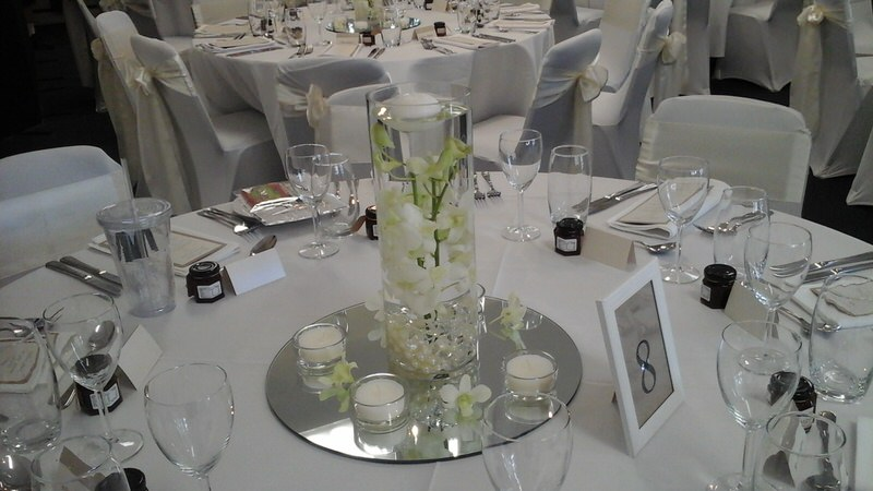 Hire Round Centerpiece Mirror Base 30cm Wedding Hire Melbourne