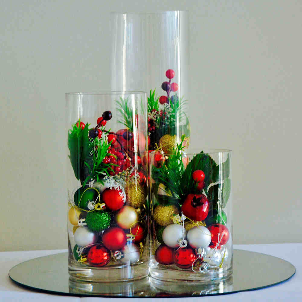 Hire Christmas Centerpieces Cylinder Vase Trio Wedding Hire Melbourne
