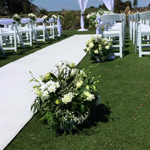 Wedding Hire Melbourne - Fresh Flowers Extra Large Buckets for Aisle Carpet Runners