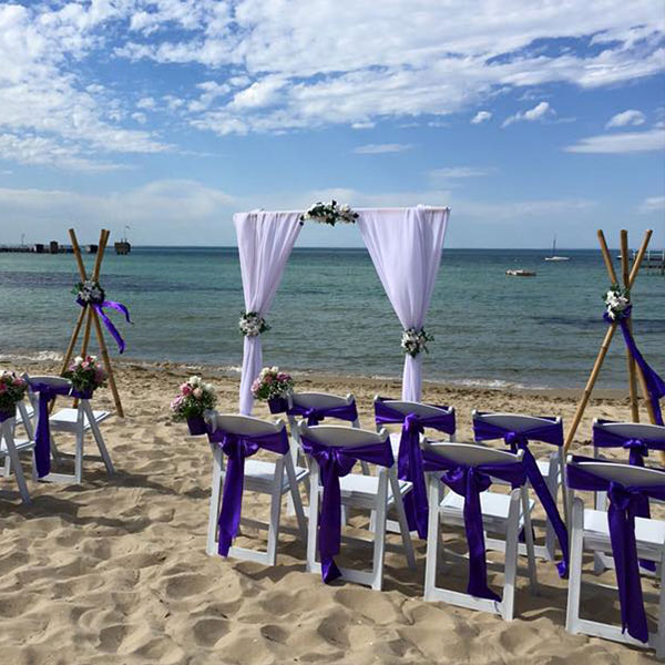 bamboo wedding arch hire melbourne