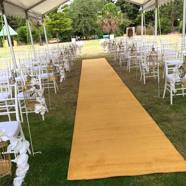 Wedding Hire Melbourne - Hire Carpet Runner Gold