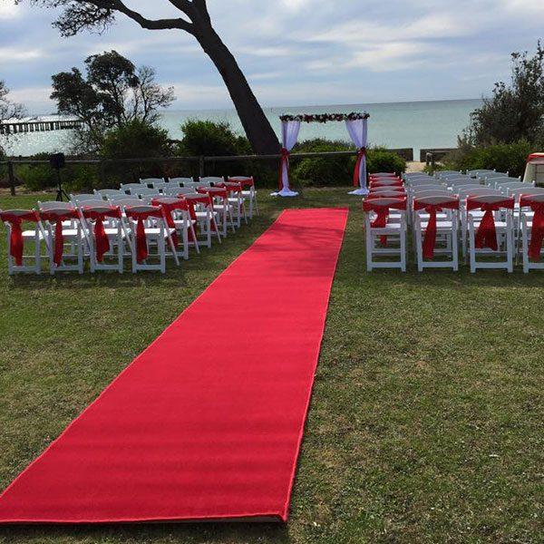 Wedding Hire Melbourne - Hire Carpet Runner Red