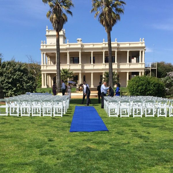 Wedding Hire Melbourne - Hire Carpet Runner Royal Blue 02