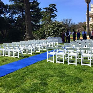 Wedding Hire Melbourne - Hire Carpet Runner Royal Blue