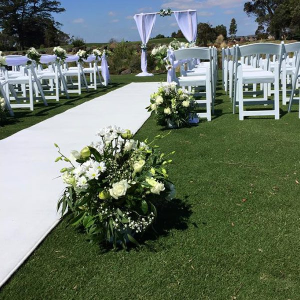 Wedding Hire Melbourne - Hire Carpet Runner White