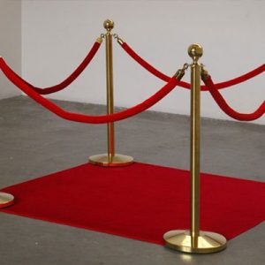 Wedding Hire Melbourne - Hire Gold Event Bollards with Rope