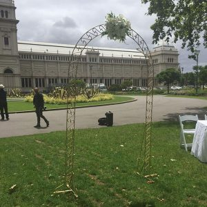 Wedding Hire Melbourne - Hire Gold Garden Arch