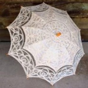 Wedding Hire Melbourne - Hire Lace Ivory Parasol