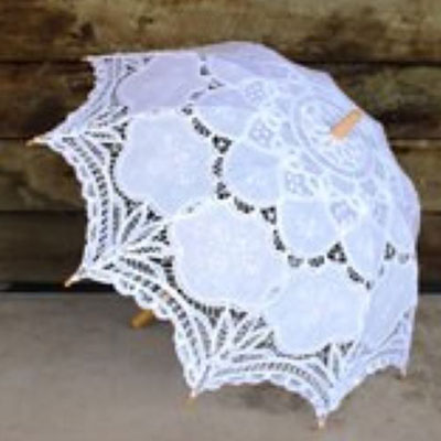 Wedding Hire Melbourne - Hire Lace White Parasol