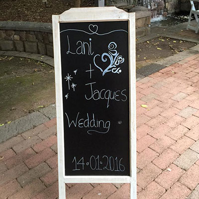 Wedding Hire Melbourne - Hire White Rustic 1.2m High Chalkboard