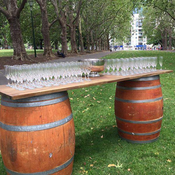 Wedding Hire Melbourne - Hire Wine Barrel Bar