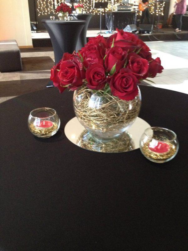 small fishbwol vase centerpiece hire melbourne