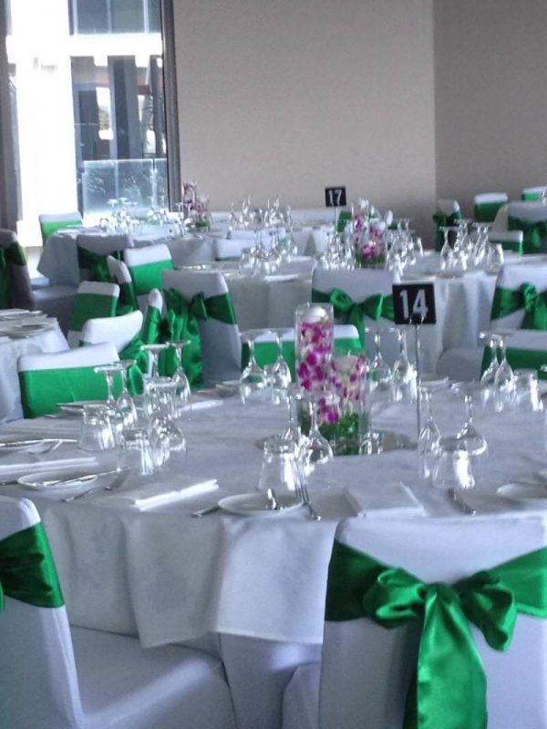 Emerald Green Satin Chair Sash Hire