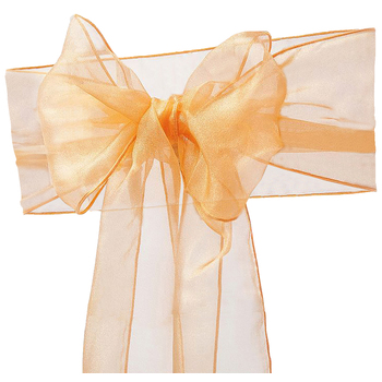 Gold Organza Chair Sash