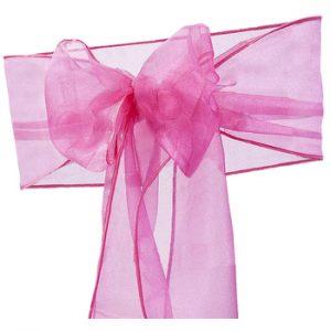 Hot Pink Fuschia Organza Sash