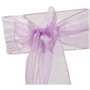 Lavender Organza Chair Sash