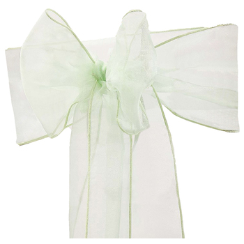 Mint Organza Chair Sash