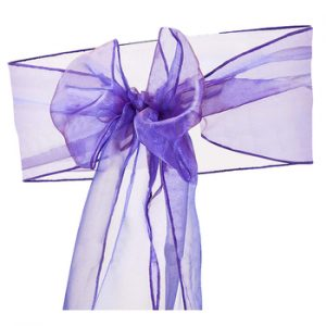 Purple Organza Chair Sash