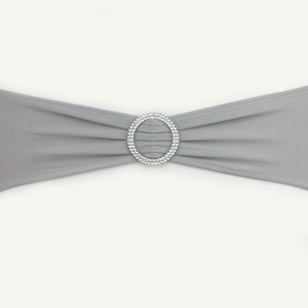 Silver Lycra Chair Band