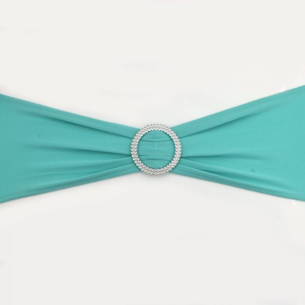Turquoise Lycra Chair Band