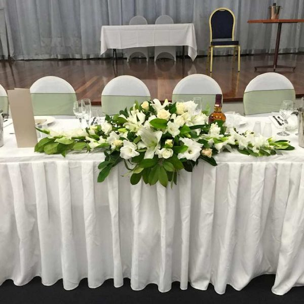 White table-skirting hire melbourne