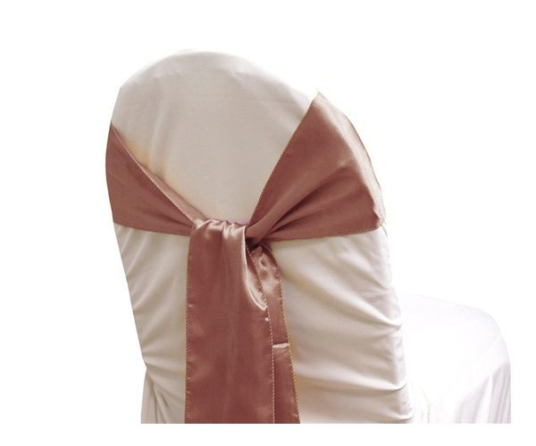 Rose Gold Satin Sash Hire
