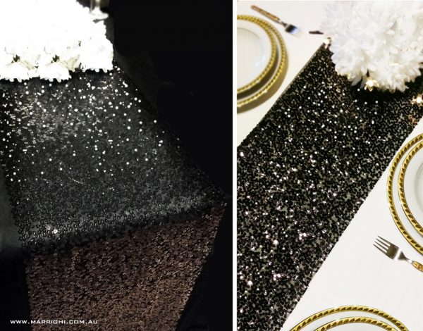 black sequin-table-runners