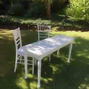 wooden-signing-table-set hire