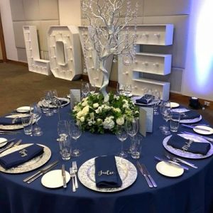 navy table cloth hire melbourne