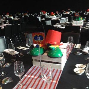 hire circus theme centerpiece