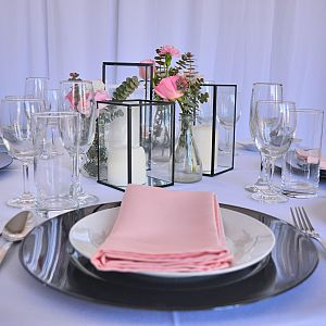 Black Framed Candle Holders for Hire Melbourne