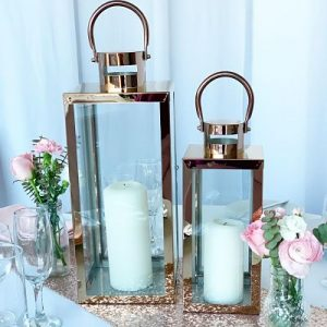 rose gold lanterns for hire melbourne