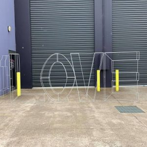 hire giant love wire letters melbourne