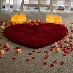 hire red heart shaped rug