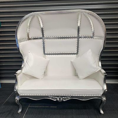 hire white dome couch lounge