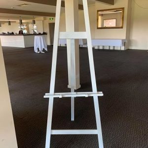 hire white wooden easel melbourne